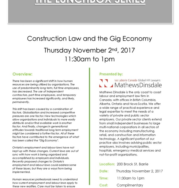Employment Law and Gig Economy